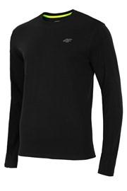 Pánské bavlněné triko s dlouhým rukávem Black