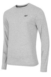 Pánské bavlněné triko s dlouhým rukávem Melange