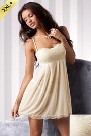 Luxusní košilka + tanga Nicolette Cream