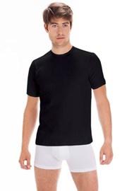Pánské bavlněné tričko s krátkým rukávem Black