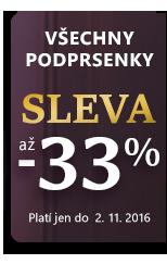 Celá nabídka podprsenek sleva až 33 %.