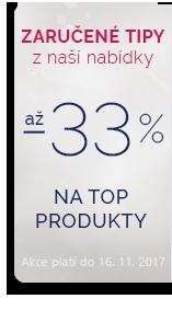 Top produkty až 33 %!