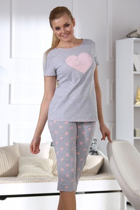 Dámské pyžamo Hearts grey