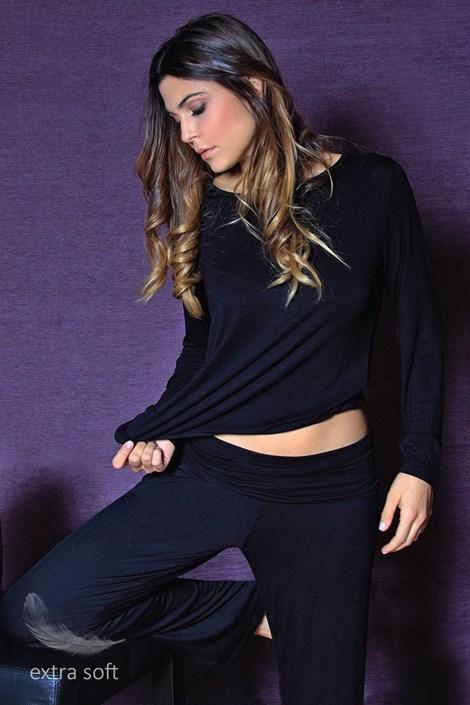 Dámské pohodlné kalhoty Fashion Black z viskózy