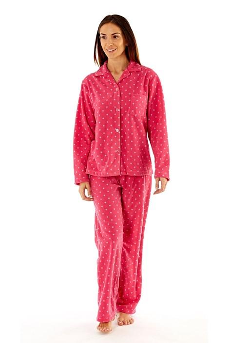 Dámské fleecové pyžamo Elena Pink