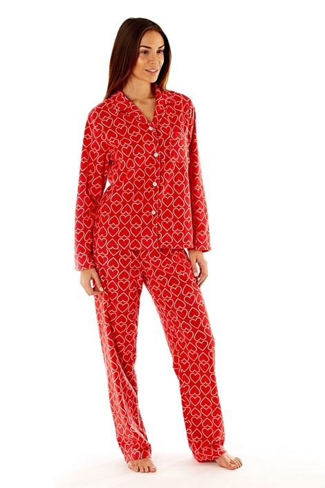 Dámské fleecové pyžamo Jennifer Red