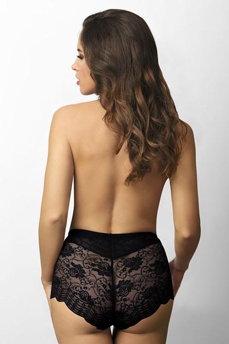 Stahovací kalhotky krajkové černé