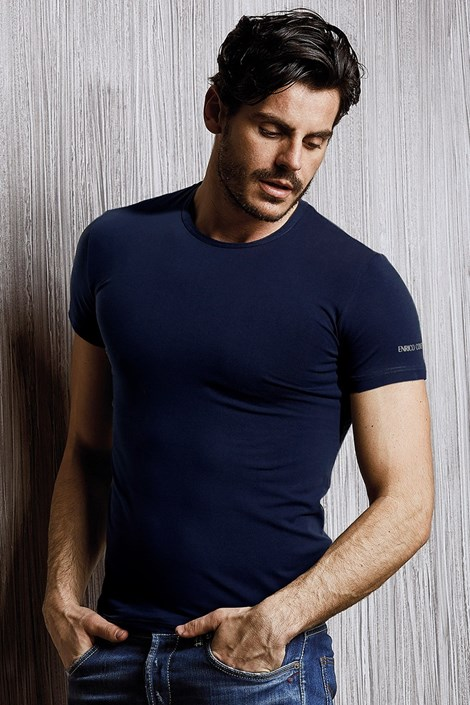 Přiléhavé pánské triko Enrico Coveri 1000C