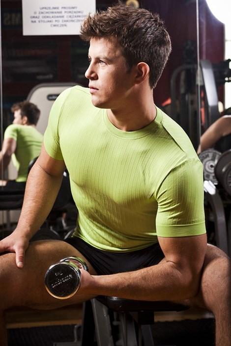 Bezešvé pánské triko - kulatý výstřih
