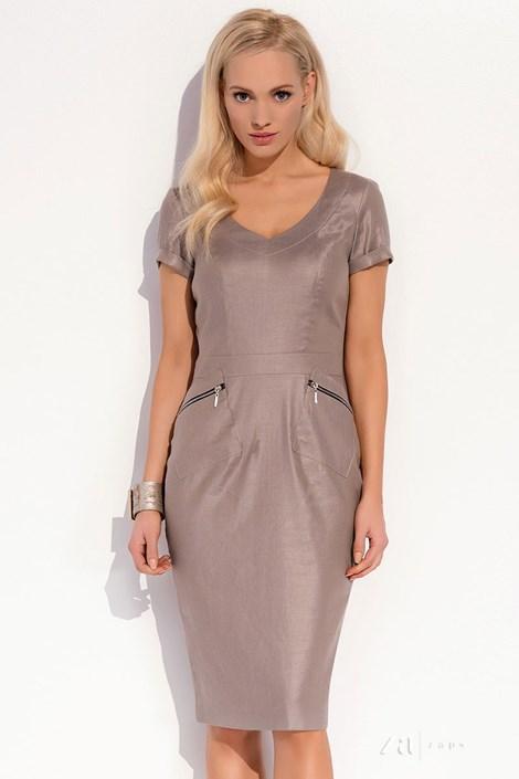 Dámské luxusní lněné šaty Karissa 020