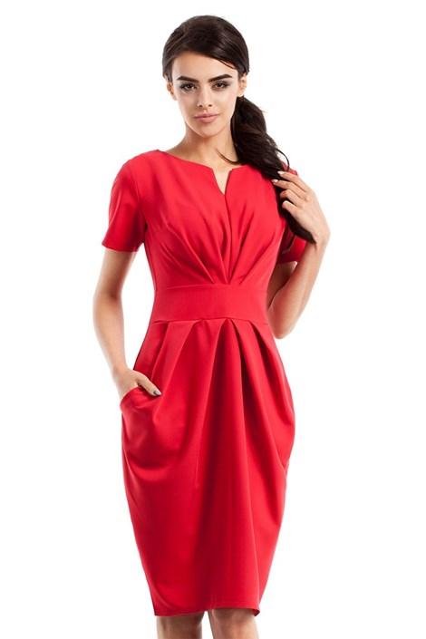Dámské elegantní šaty s kapsami Moe234