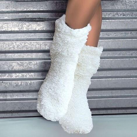 Hřejivé ponožky Abi Ecru