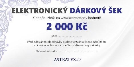 ELEKTRONICKÝ dárkový šek 2000 Kč