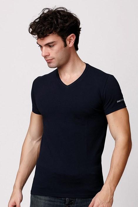 Pánské italské tričko Enrico Coveri ET1501 Blue bavlněné
