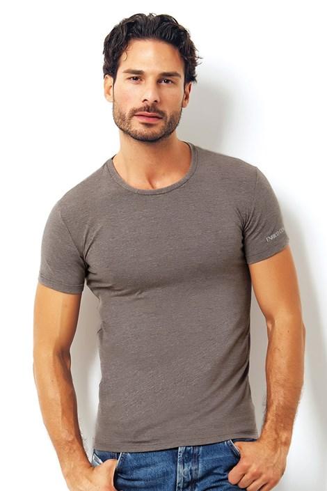 Pánské italské tričko Enrico Coveri 1504 Brown