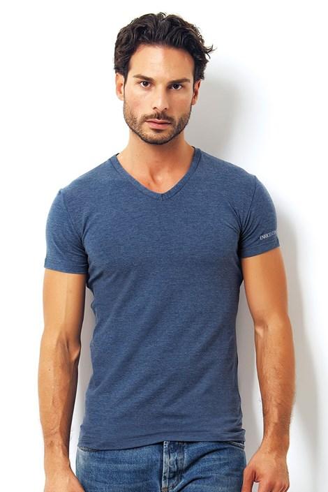 Pánské italské tričko Enrico Coveri 1505 Oceano