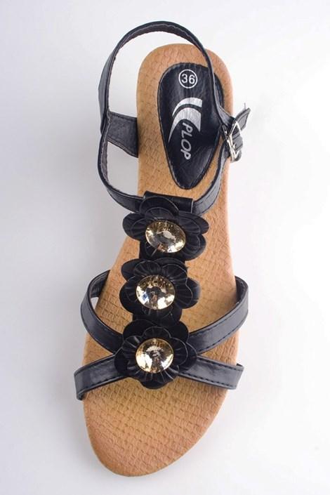 Černé sandály