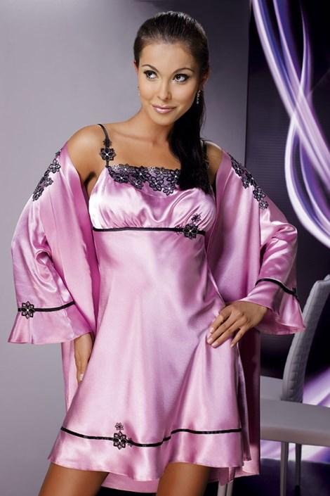 Saténová košilka Mirabelle Pink