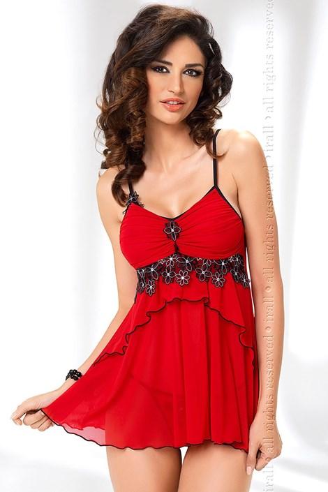 Košilka + Tanga Mirabelle Red