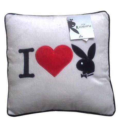 Polštářek Square I Heart Bunny white