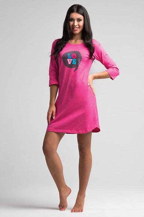 Dámská noční košile Love Pink