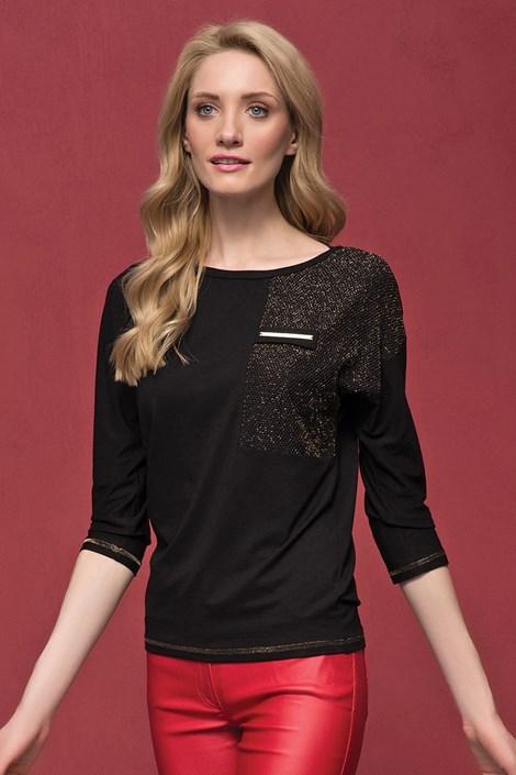 Dámské luxusní triko Sati Black
