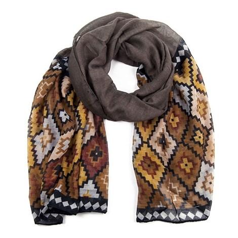 Dámský šátek Abstrakt Brown