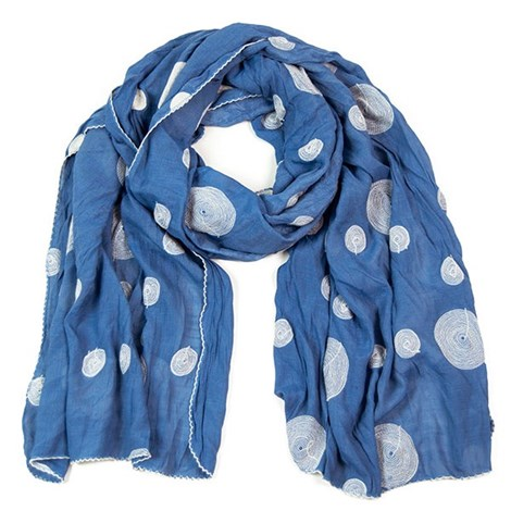 Elegantní šátek s vyšívanými puntíky