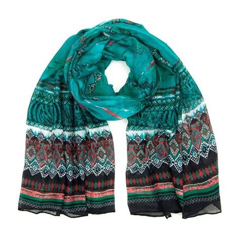 Nápaditý šátek Orient zelený