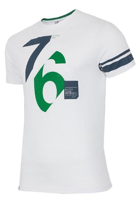 Pánské bavlněné triko 76 White