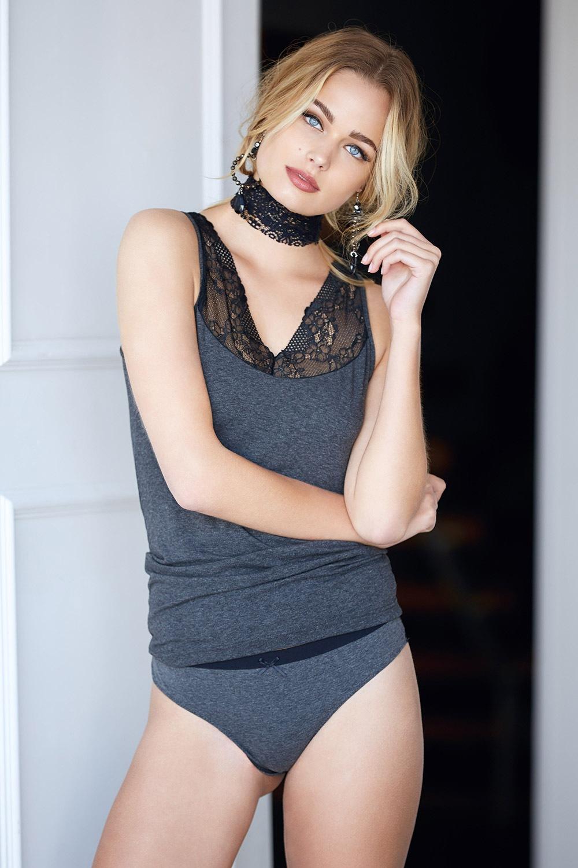 Dívčí set Lace Grey