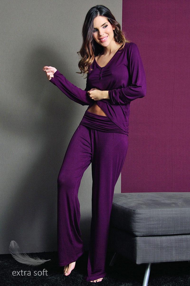 Dámské pohodlné kalhoty Fashion Bordo