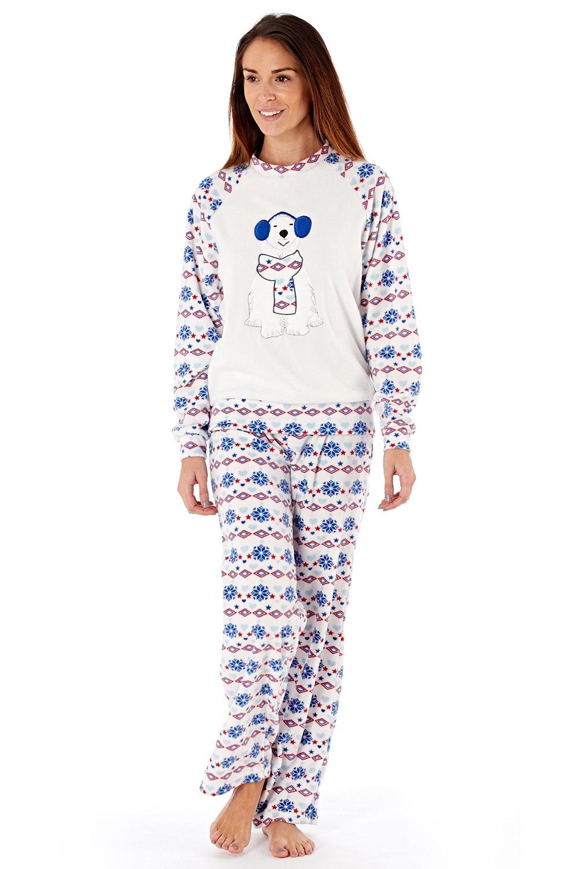 Dámské fleecové pyžamo Polar Bear