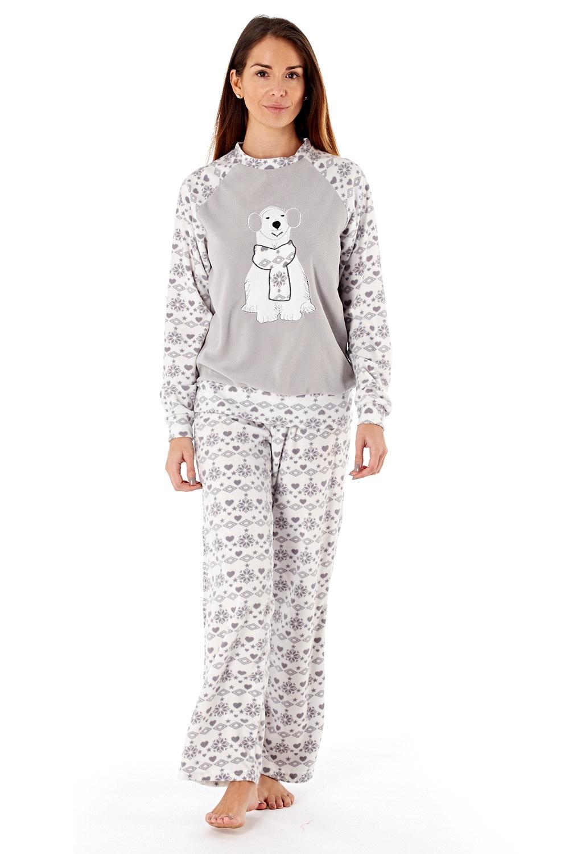 Dámské fleecové pyžamo Polar Bear Grey