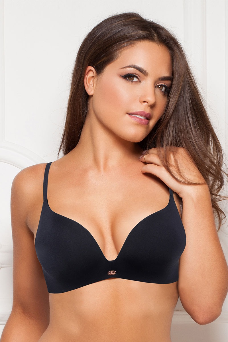 Podprsenka Gossard Black Push Up bez kostic