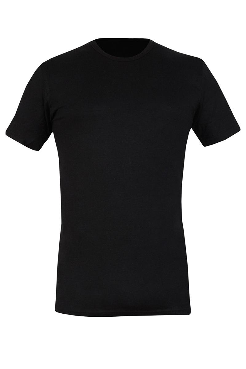 Pánské bvlněné triko černé 090