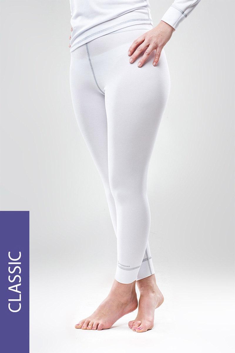 Termo kalhoty Classic - bílé
