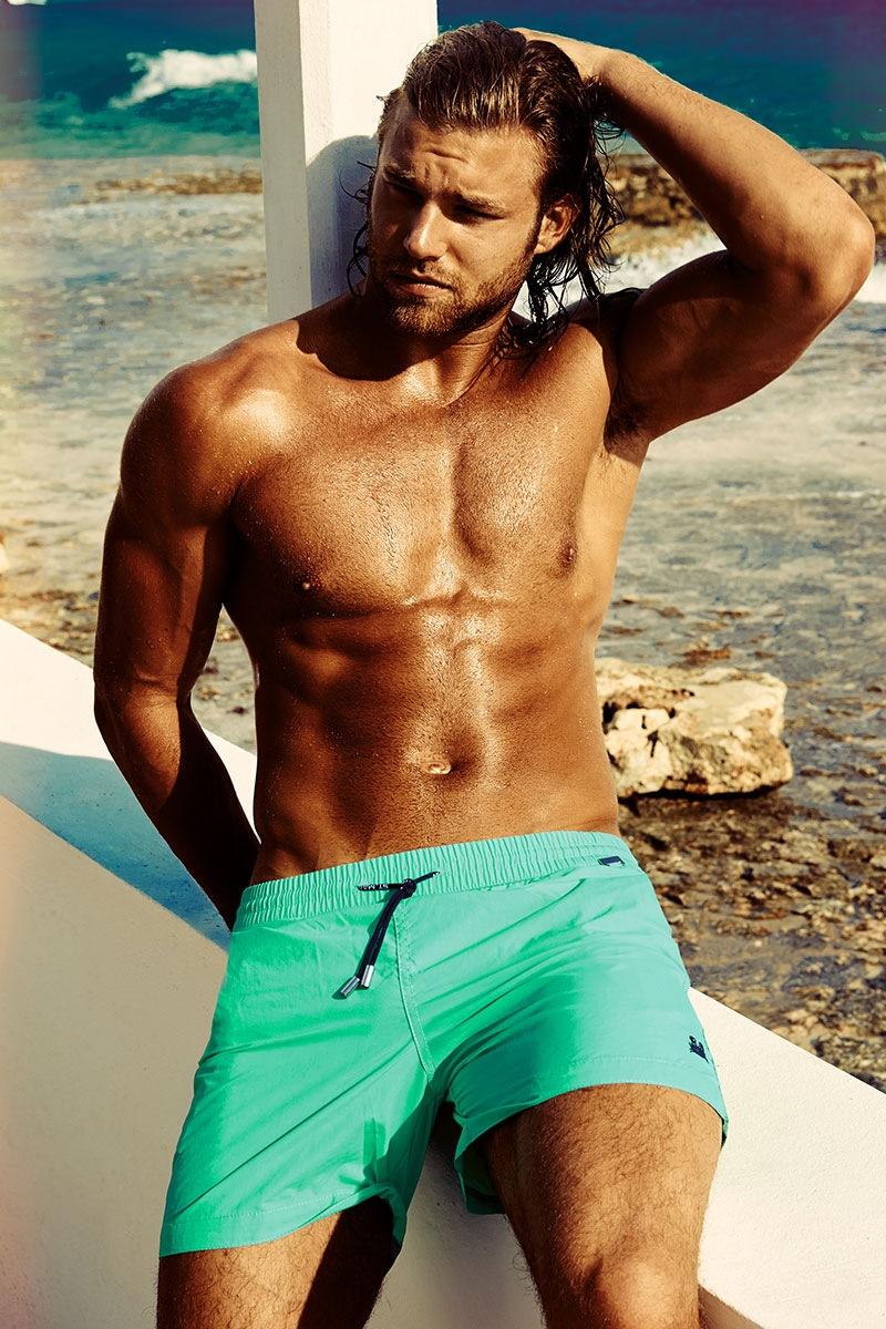 Pánské plavkové šortky Edgar Aquamarine