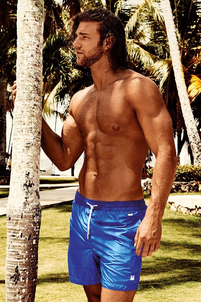 Pánské plavkové šortky Darius Blue