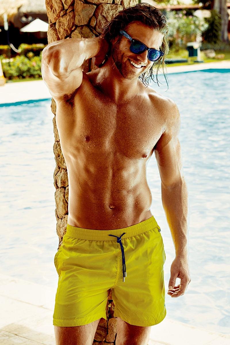 Pánské plavkové šortky Darius Yellow
