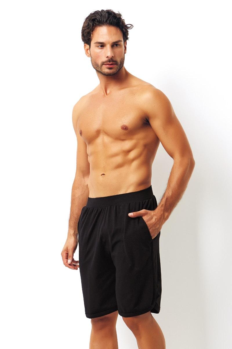 Pánské bavlněné šortky černé
