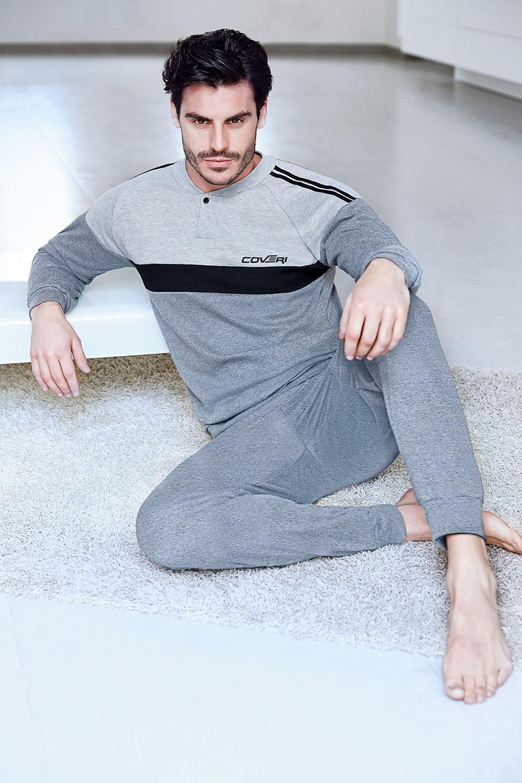 Pánský domácí komplet Bernardo šedý