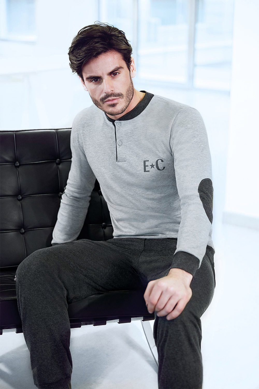 Pánský domácí komplet Adriano šedý
