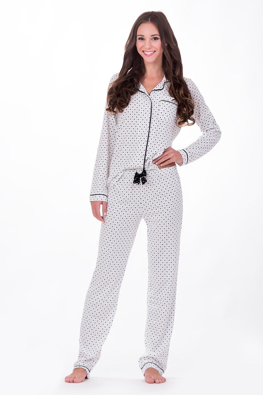Dámské italské pyžamo Hearts White