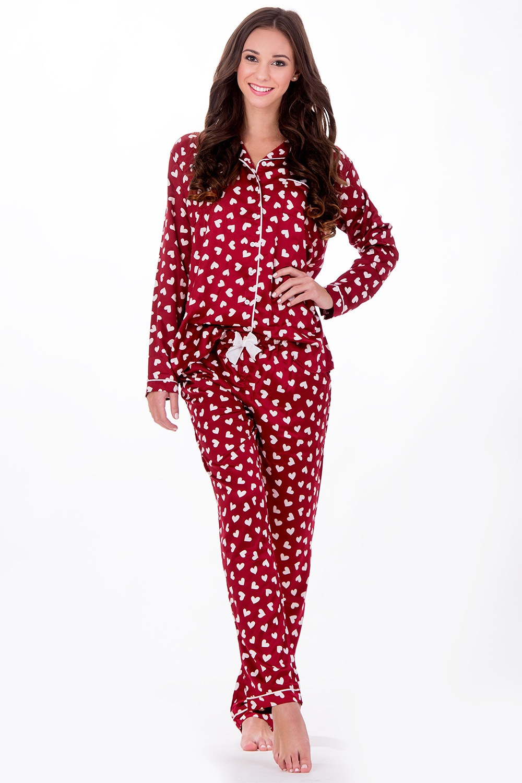 Dámské italské pyžamo Elegance Red