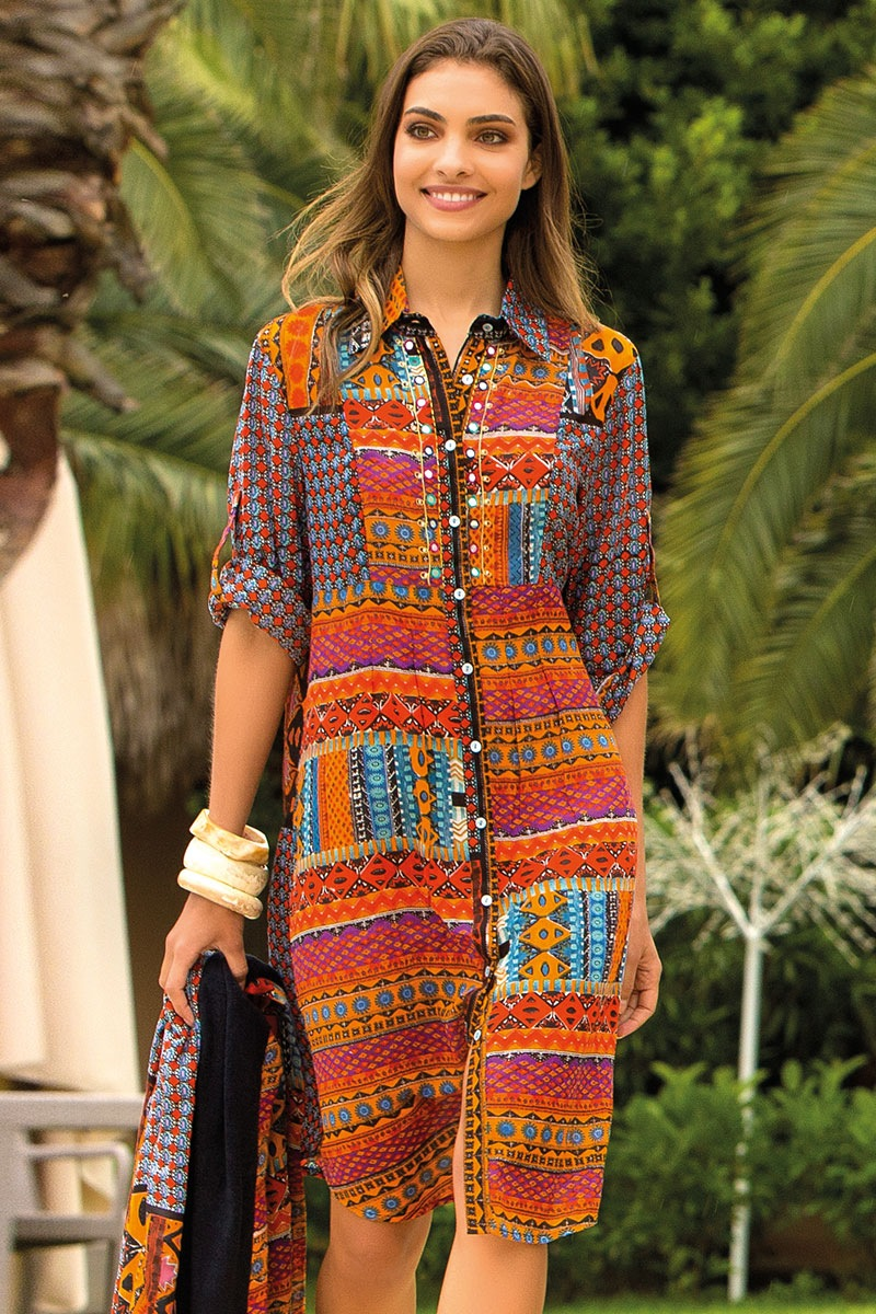 Dámské letní košilové šaty Laura z kolekce Iconique