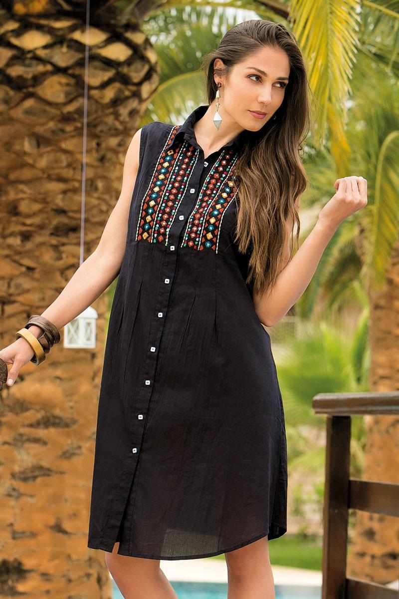 Dámské letní košilové šaty Vittoria bavlněné z kolekce Iconique