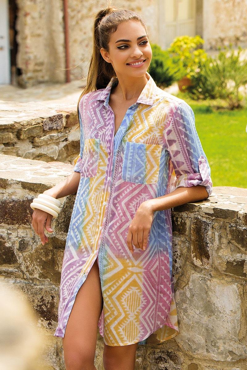 Dámské letní košilové šaty Anna bavlněné z kolekce Iconique