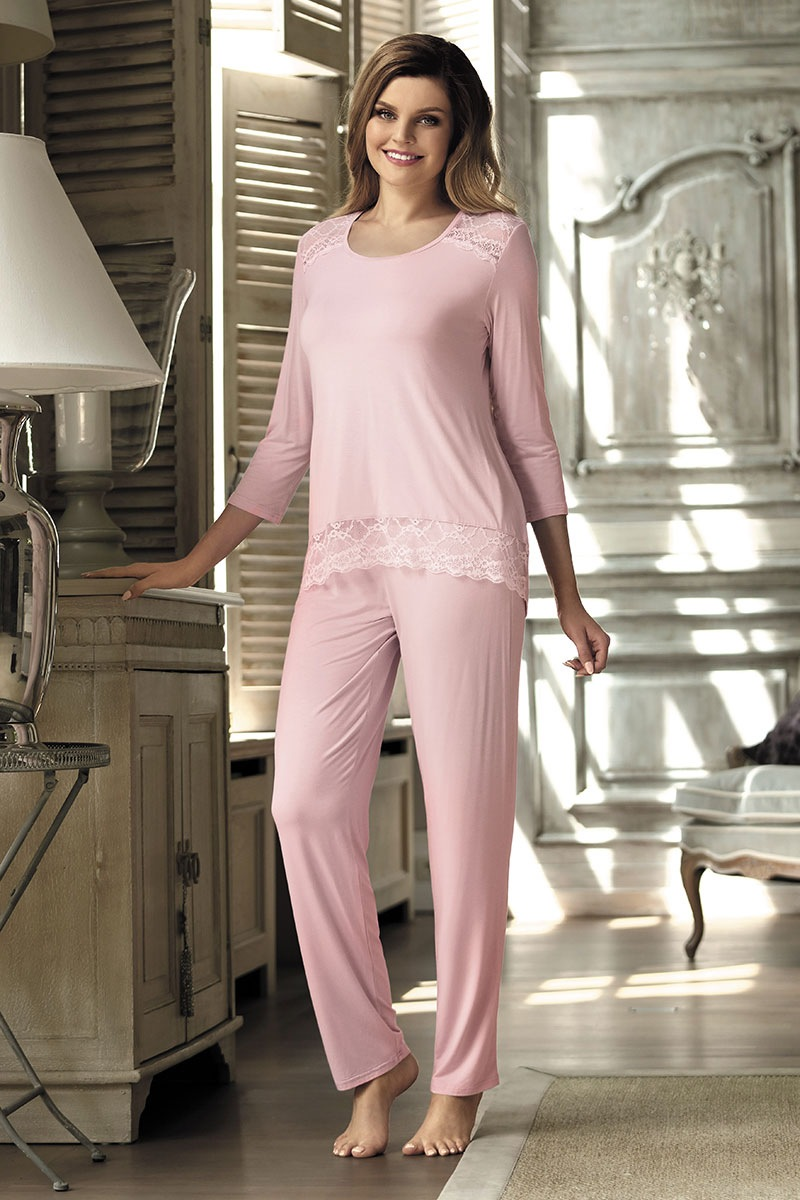 Dámské elegantní pyžamo Olimpia Pink
