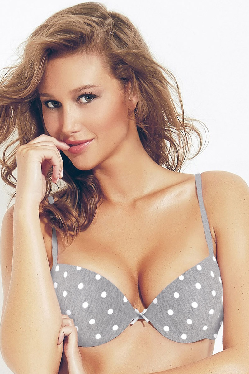 Podprsenka Push-Up Perla Grey1